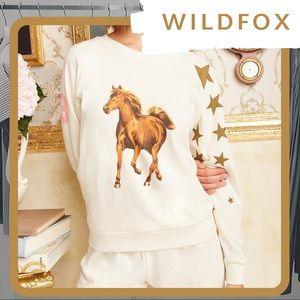 🆕NWT WILDFOX Star Jockey Horse Fiona Crew Sweater